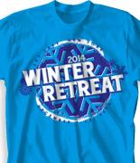 Winter Youth Retreat T Shirt  - Go Big Winter desn-862g1