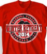 Winter Youth Retreat T Shirt  - Retreat Emblem desn-859r2
