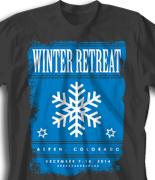 Winter Retreat T Shirt  - Winter Poster desn-857w1