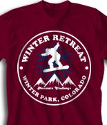 Winter Retreat T Shirt  - Winter Soar desn-852w2