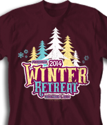Winter Retreat T Shirt  - Los Arboles desn-860l1