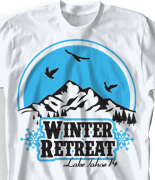 Winter Youth Retreat T Shirt  - Winter Altitude desn-851w1