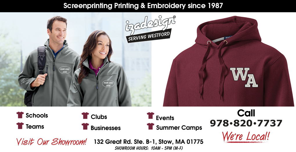 IZA Design Screen Printing and Embroidery in Westford, MA
