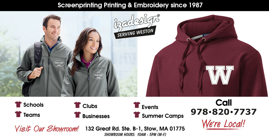 IZA Design Screen Printing and Embroidery in Weston, MA