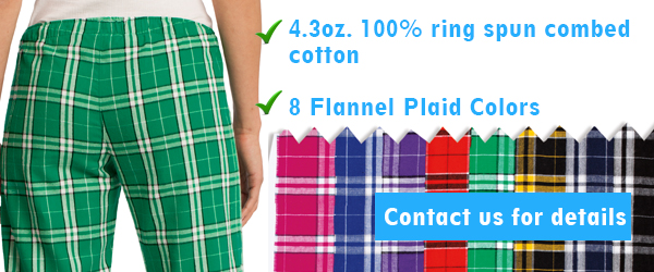 Junior Flannel Plaid Pants DT2800
