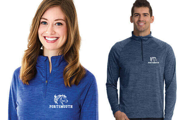 Equestrian Embroidered Apparel by Charles River Apparel  - Space Dye Performance Pullover