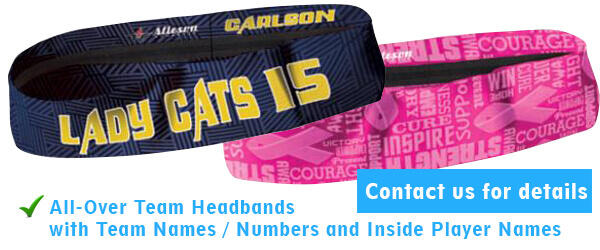 Custom All-Over Softball Headband