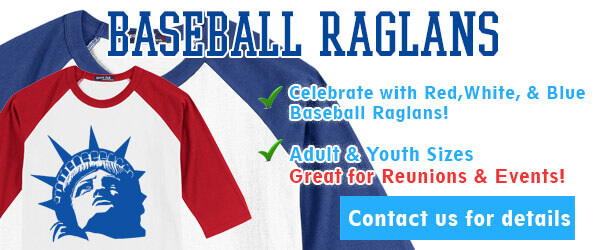 4th of July Baseball Raglans
