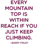 Every Mountain Quote