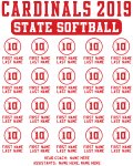 State Softball Roster