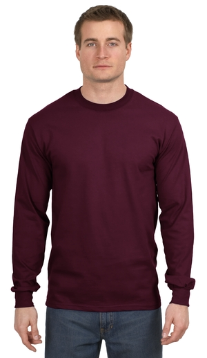 a9cd34f8a50716 Hanes ® Beefy-T ® - 100% Cotton Long Sleeve T-Shirt. 5186