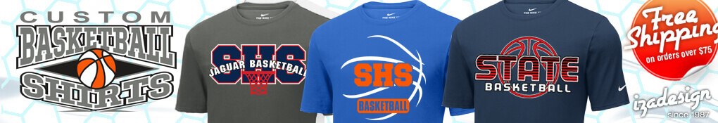 IZA Design Custom Basketball T-Shirt Designs