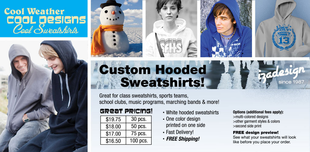IZA Design Custom Shirts - Cool Sweatshirts and Hoodies