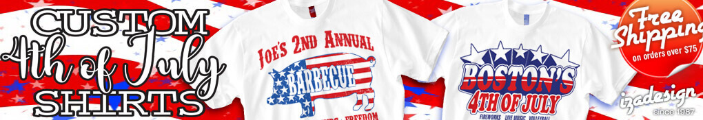 IZA Design Custom 4th of July T-Shirt Designs