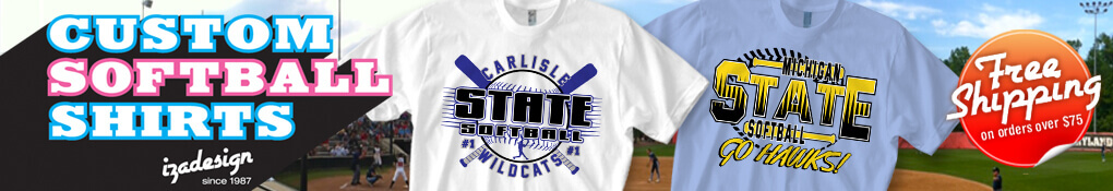 IZA Design Custom Softball T-Shirt Designs