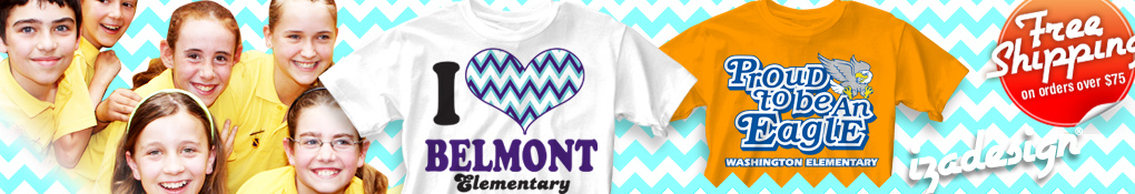 IZA Design Elementary School Spirit Shirts