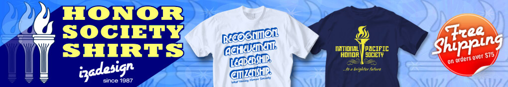 IZA Design Custom National Honor Society T Shirts