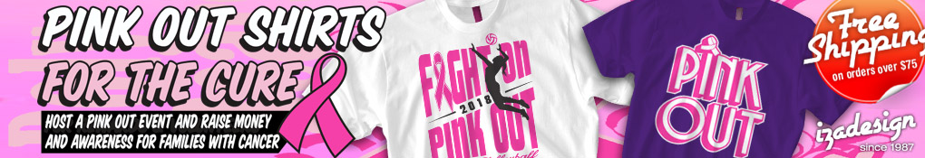 IZA Design Custom Pink Out Shirts