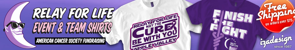 IZA Design Custom Relay for Life Shirts
