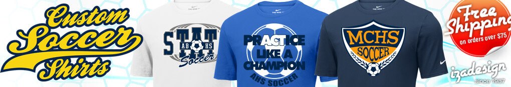 IZA Design Custom Soccer Shirt Designs