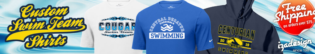 IZA Design Custom Swim Team Shirts