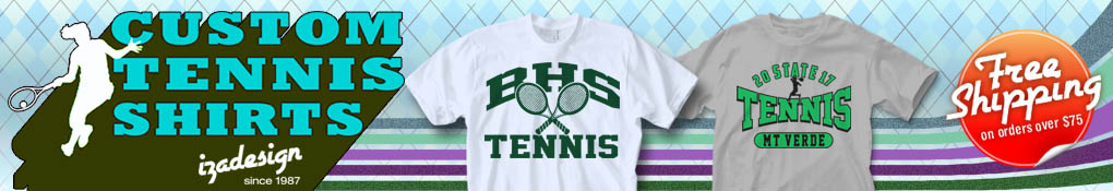 IZA Design Custom Tennis Shirt Designs for your Team