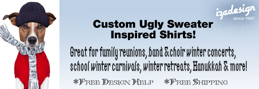 IZA Design Custom Ugly Sweater Shirts