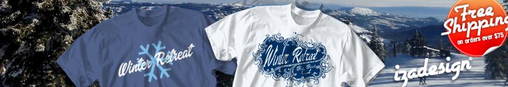 winter youth retreat t shirt designs cool custom winter. Black Bedroom Furniture Sets. Home Design Ideas