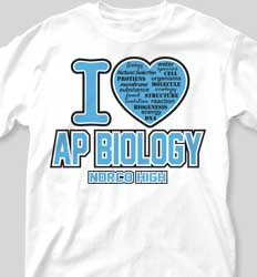 AP Biology Shirts - Love AP Biology cool-335l1