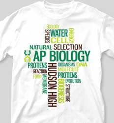 AP Biology Shirts - Random Words desn-268e3