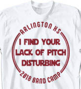 Band Camp T Shirt - Lack of Pitch - cool-618l1