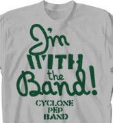 Band Camp T Shirt - Message - clas-770m8