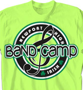 Band Camp T Shirt - Team Logo - clas-979t6