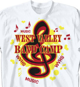 Band Camp T Shirt - Musica - desn-131m3