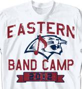 Band Camp T Shirt - Mascot Phys Ed - clas-829n3
