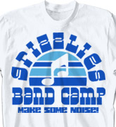 Band Camp T Shirt - Sunset Sounds - clas-660s8