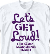Band Camp T Shirt - Message - clas-770m3