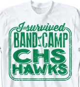 Band Camp T Shirt - Band Survival - cool-620b1