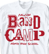 Band Camp T Shirt - Band Letters - cool-623b1