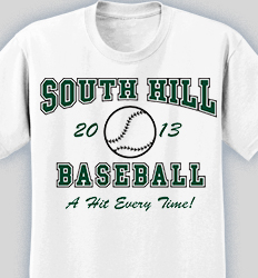 Baseball Shirt Designs - Retro Ball desn-619r2