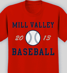 Baseball Shirt Design - Retro Ball desn-619r1