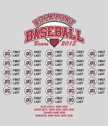 Baseball Roster Design - Players List desn-629p1