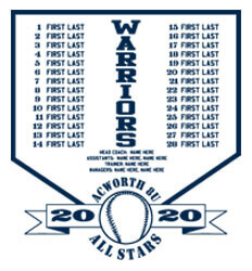 Baseball Roster Designs - Plate Names - desn-631p5