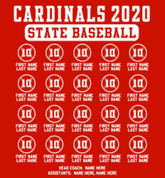 Baseball Roster Designs - State Baseball Lineup - idea-310s2