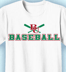 Baseball Team Shirts - College Arms - desn-605c1