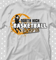 Basketball Camp Shirt Designs - Jumpshot Artistry - cool-678j1