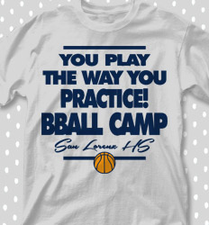 Basketball Camp Shirt Designs -  Letter Block - desn-247o2