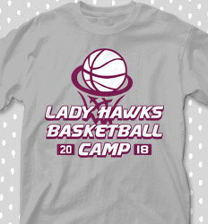 Basketball Camp Shirt Designs - Trophy Camp - cool-669t1