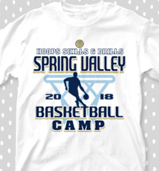 Basketball Camp Shirt Designs - Hoopster Camp - cool-658h1
