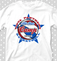 Basketball Camp Shirt Designs - All Star Camp - cool-676a1